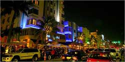 South Beach, Ocean Drive at night
